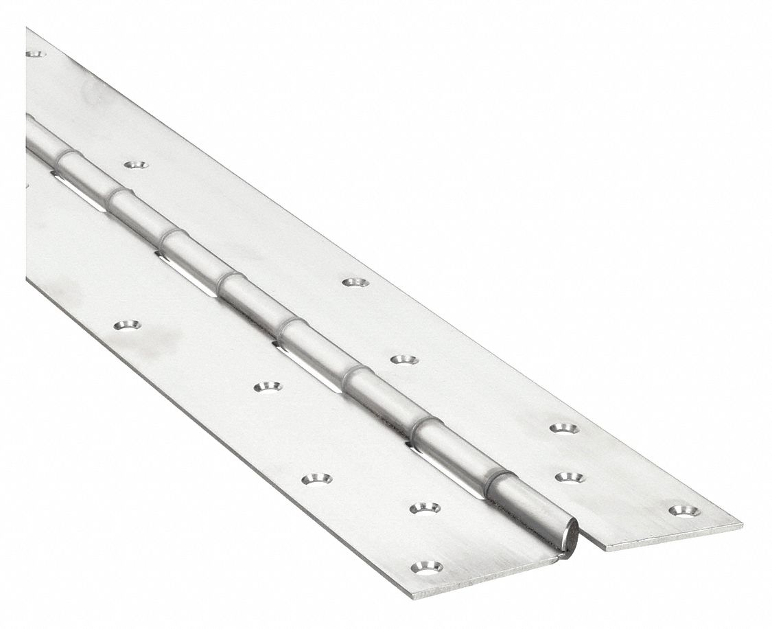 MARKAR FM3500-79 79 in x 4 1/2 in Butt Hinge with Satin Stainless Steel Finish, Mortise Mounting