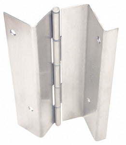MARKAR HG329-001-630 83 1/8 in x 4 1/2 in Butt Hinge with Dull Stainless Steel Finish, Full Mortise Mounting