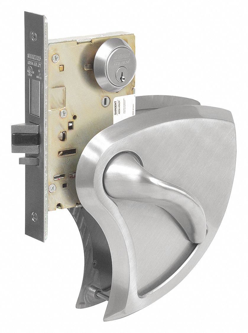 SARGENT LC 8204 BHW 32D RH Mortise Lockset,  Mechanical,  Heavy Duty,  Keyed Different,  Satin Stainless Steel
