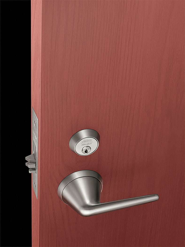 CORBIN ML2057-BLSS-630C Mortise Lockset,  Mechanical,  Keyed Different,  Dull Stainless Steel,  2 3/4 in Backset,  Mortise