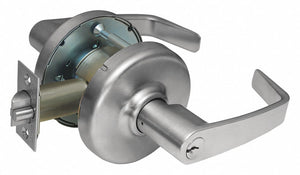 CORBIN CL3357 NZD 626 Lever,  Mechanical,  Extra Heavy Duty,  Keyed Different,  Satin Chrome,  2 3/4 in Backset