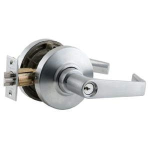 Schlage AL70PD SAT 626 C Keyway Series AL Grade 2 Cylindrical Lock, Classroom Function, C Keyway, Saturn Design, Satin Chrome Finish
