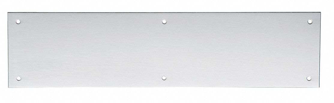 Door Push Plate,  Stainless Steel,  Surface Mount Screws