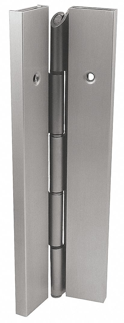 MARKAR FS202-001-600-HT-MP 90 ° Continuous Hinge With Holes, Gray Enamel, Door Leaf: 84 in x 1 11/16 in W