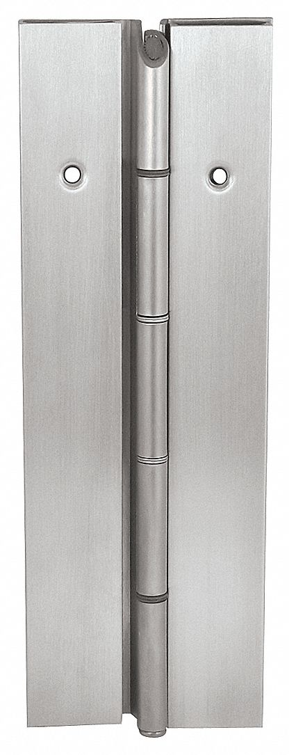 MARKAR FS302-001-630-HT-MP 90 ° Continuous Hinge With Holes, Satin Stainless Steel, Door Leaf: 84 in x 1 11/16 in W