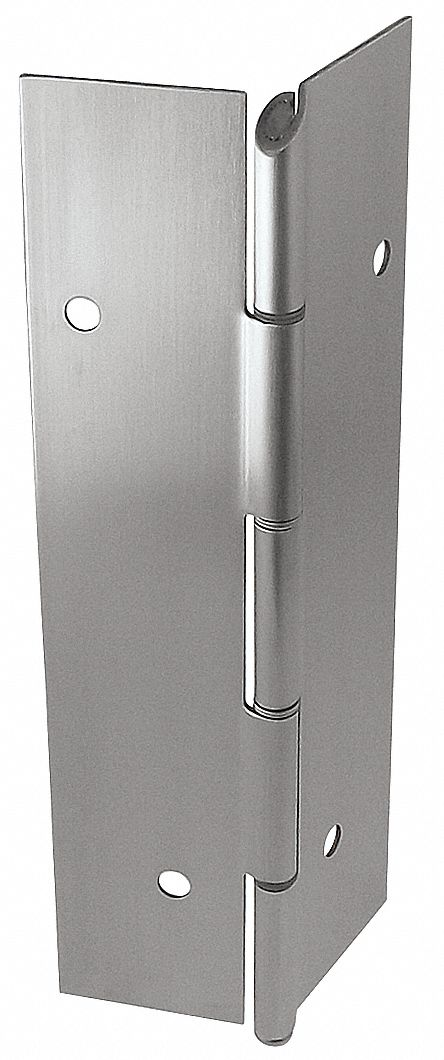 MARKAR FM300-001-630-HT-MP 180 ° Continuous Hinge With Holes, Satin Stainless Steel, Door Leaf: 84 in x 1 3/4 in W