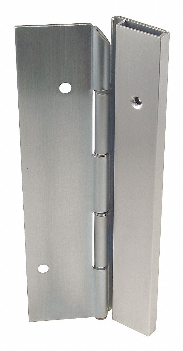 MARKAR HS303-001-630-HT-MP-RH 180 ° Continuous Hinge With Holes, Satin Stainless Steel, Door Leaf: 84 in x 1 11/16 in W