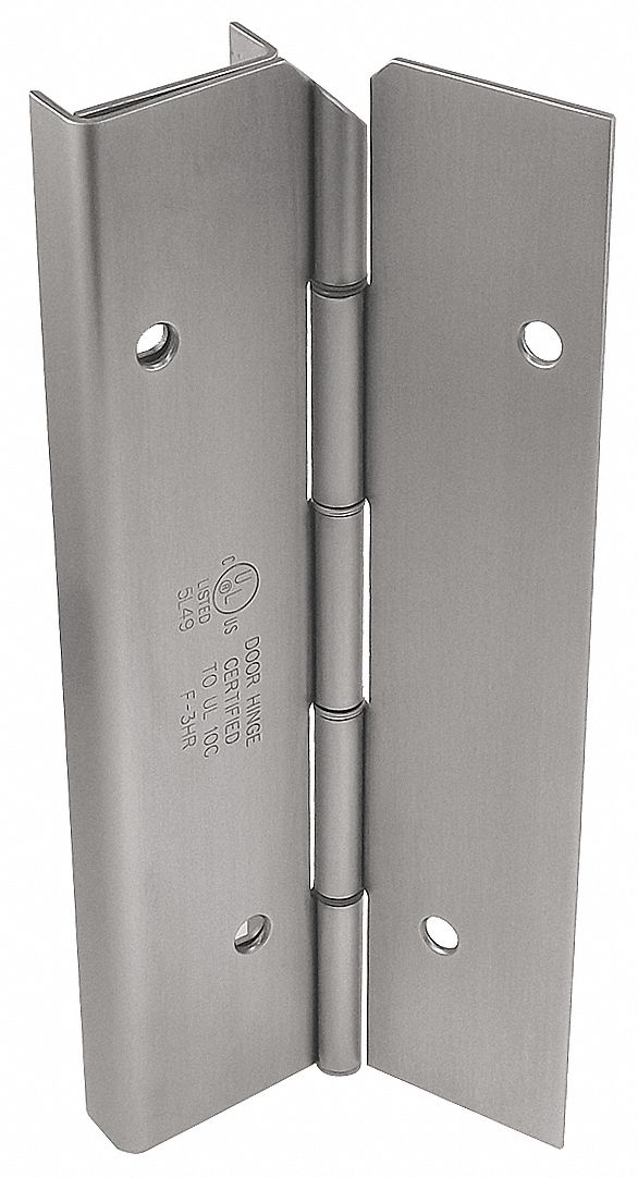MARKAR HG305-001-630-HT-MP-LH 180 ° Continuous Hinge With Holes, Satin Stainless Steel, Door Leaf: 84 in x 1 3/4 in W