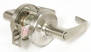 CORBIN CL3320H NZD 626 Lever,  Mechanical,  Extra Heavy Duty,  Not Keyed,  Satin Chrome,  2 3/4 in Backset,  Cylindrical