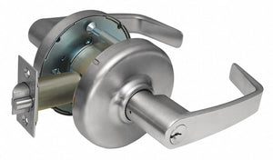 CORBIN CL3329 NZD 626 Lever,  Mechanical,  Extra Heavy Duty,  Keyed Different,  Satin Chrome,  2 3/4 in Backset