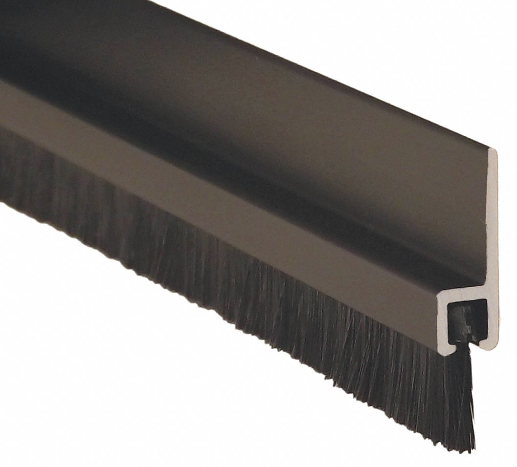 PEMKO GG18041DNB96 Double Door Weatherstrip, 8 ft Overall Length, Brush Insert Type, Nylon Insert Material