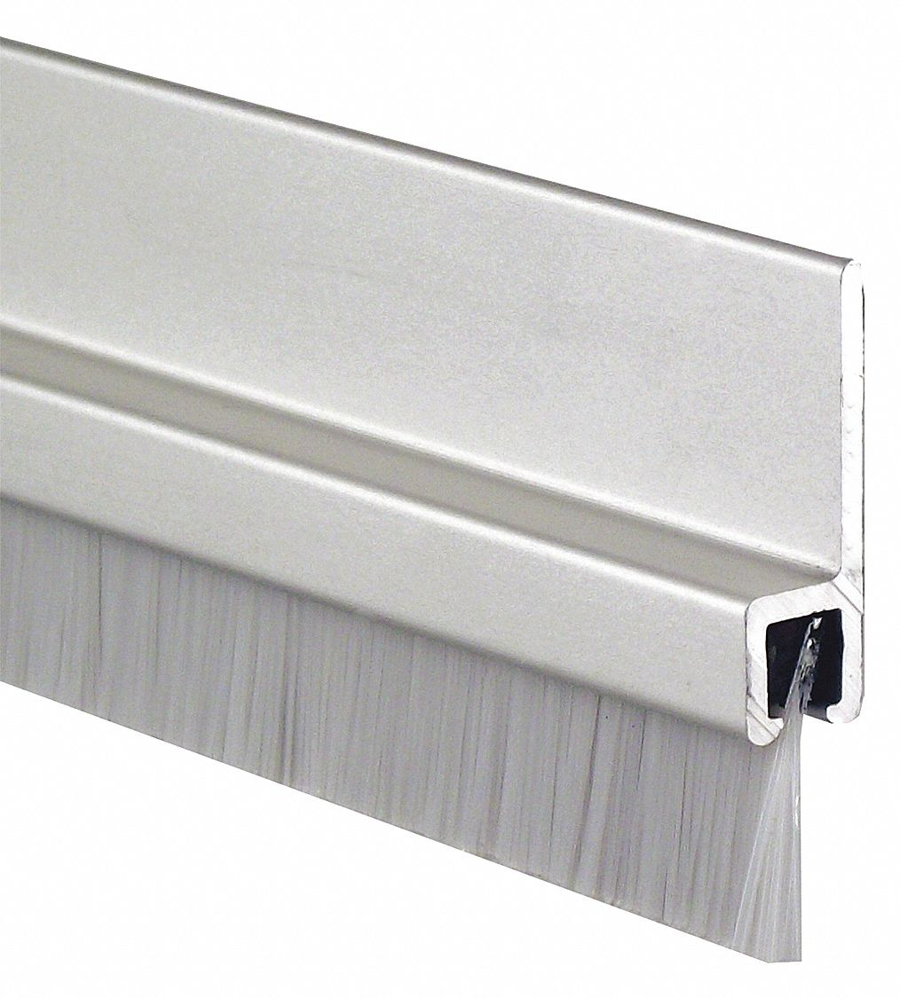 Door Frame Weatherstrip, 7 ft. Overall Length, Brush Insert Type, Nylon Brush Insert Material