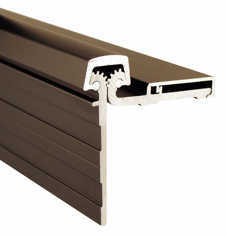 PEMKO DHS83HD1 180 ° Continuous Hinge With Holes, Dark Bronze, Door Leaf: 2 9/16 in x 1 7/8 in W