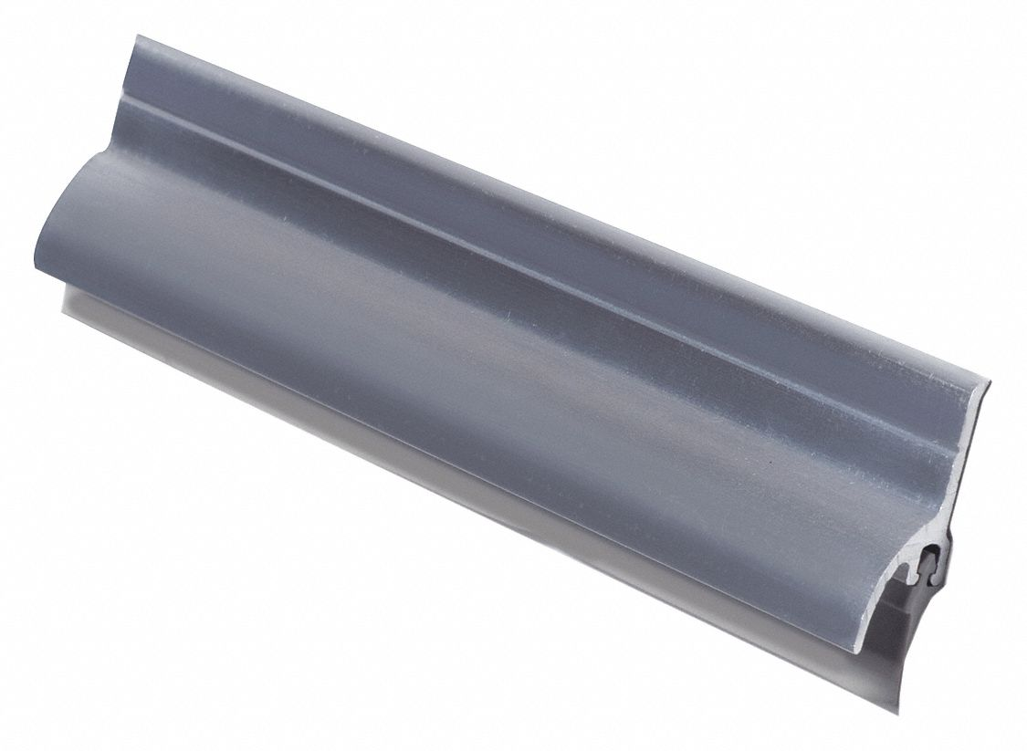 "Door Sweep, Mill Aluminum, 48"" Length, 1-1/2"" Flange Height, 3/4"" Insert Size"