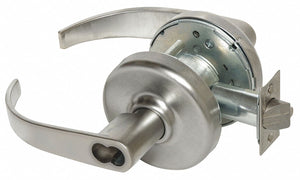 CORBIN CL3381 PZD 626 CL6 Lever Lockset,  Mechanical,  Extra Heavy Duty,  Not Keyed,  Satin Chrome,  2 3/4 in Backset
