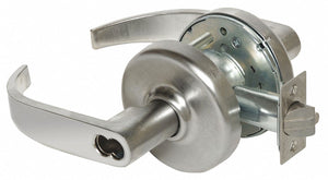 CORBIN CL3372 PZD 626 M08 Lever Lockset,  Mechanical,  Extra Heavy Duty,  Not Keyed,  Satin Chrome,  2 3/4 in Backset