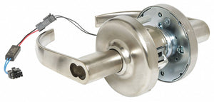 CORBIN CL33905 PZD 626 CL6 12AD Lever Lockset,  Electrical,  Extra Heavy Duty,  Not Keyed,  Satin Chrome,  2 3/4 in Backset