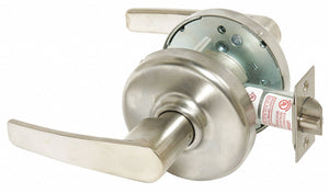 CORBIN CL3340NT AZD 626 Lever Lockset,  Mechanical,  Extra Heavy Duty,  Not Keyed,  Satin Chrome,  2 3/4 in Backset