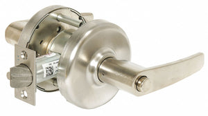 CORBIN CL3320H AZD 626 Lever Lockset,  Mechanical,  Extra Heavy Duty,  Not Keyed,  Satin Chrome,  2 3/4 in Backset