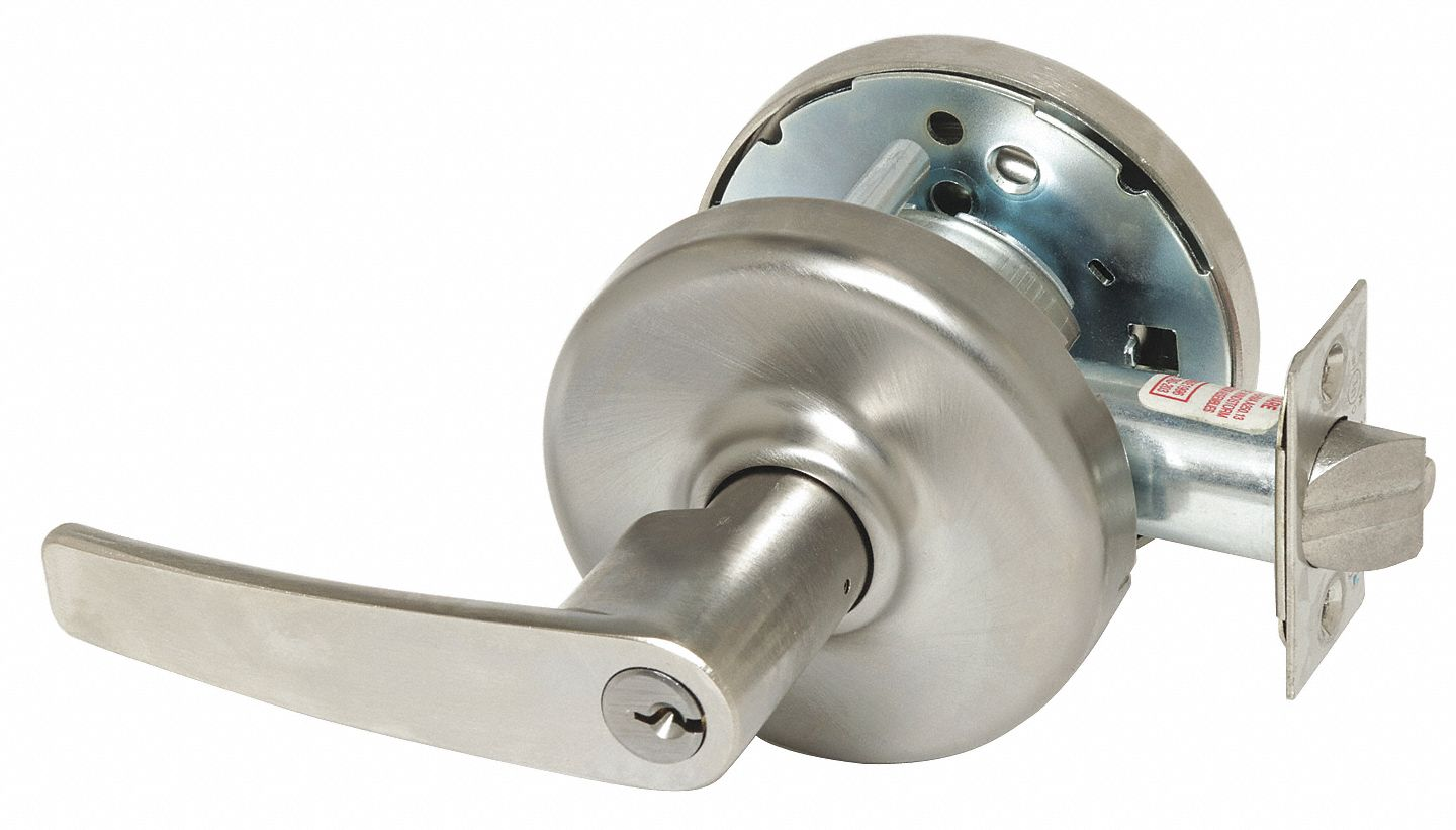 CORBIN CL3391 AZD 626 Lever Lockset,  Mechanical,  Extra Heavy Duty,  Keyed Different,  Satin Chrome,  2 3/4 in Backset