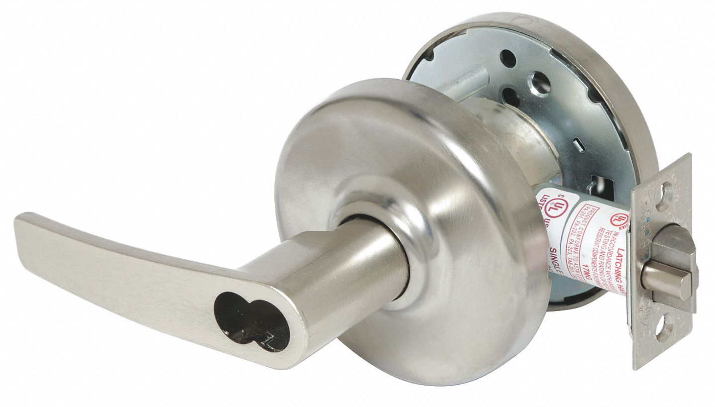 CORBIN CL3391 AZD 626 CL6 Lever Lockset,  Mechanical,  Extra Heavy Duty,  Not Keyed,  Satin Chrome,  2 3/4 in Backset