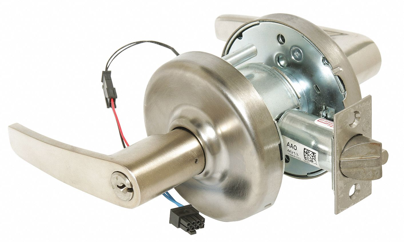 CORBIN CL33905 AZD 626 24AD Lever Lockset,  Electrical,  Extra Heavy Duty,  Keyed Different,  Satin Chrome,  2 3/4 in Backset