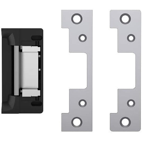 HES 8000C Complete Pac for Latchbolt Locks, Includes The 801 & 801A faceplates, Satin Stainless Steel (630), Dual Voltage (12/24 VDC/VAC)