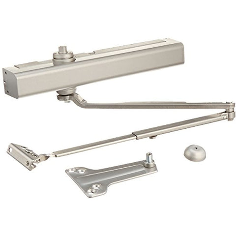 Norton Door Controls 8301 x 689 8300 Series Door Closer, Cast Aluminum Body, Adjustable Size 1-6, Half Cover Tri-Styled Pack, Aluminum Finish