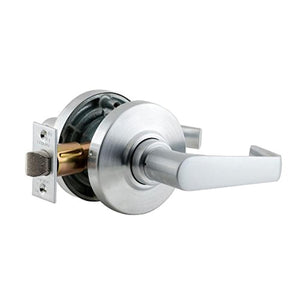 Schlage AL10 SAT 626 Series AL Grade 2 Cylindrical Lock, Passage Function, Keyless, Saturn Design, Satin Chrome Finish