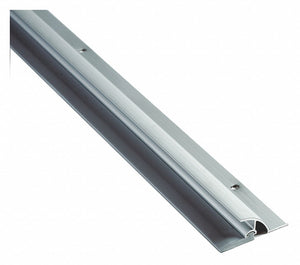 "Drip Cap Door Sweep, Anodized Aluminum, 3 ft. Length, 1-1/2"" Flange Height, 1/2"" Insert Size"