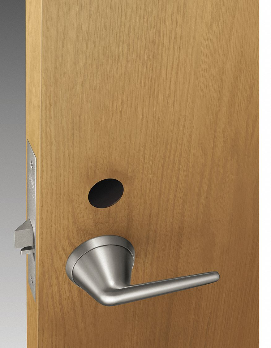 SARGENT LC-8204 BHL 32D Storeroom or Closet Lock Function,  Grade 1,  Interior and Exterior Trim for Exit Device