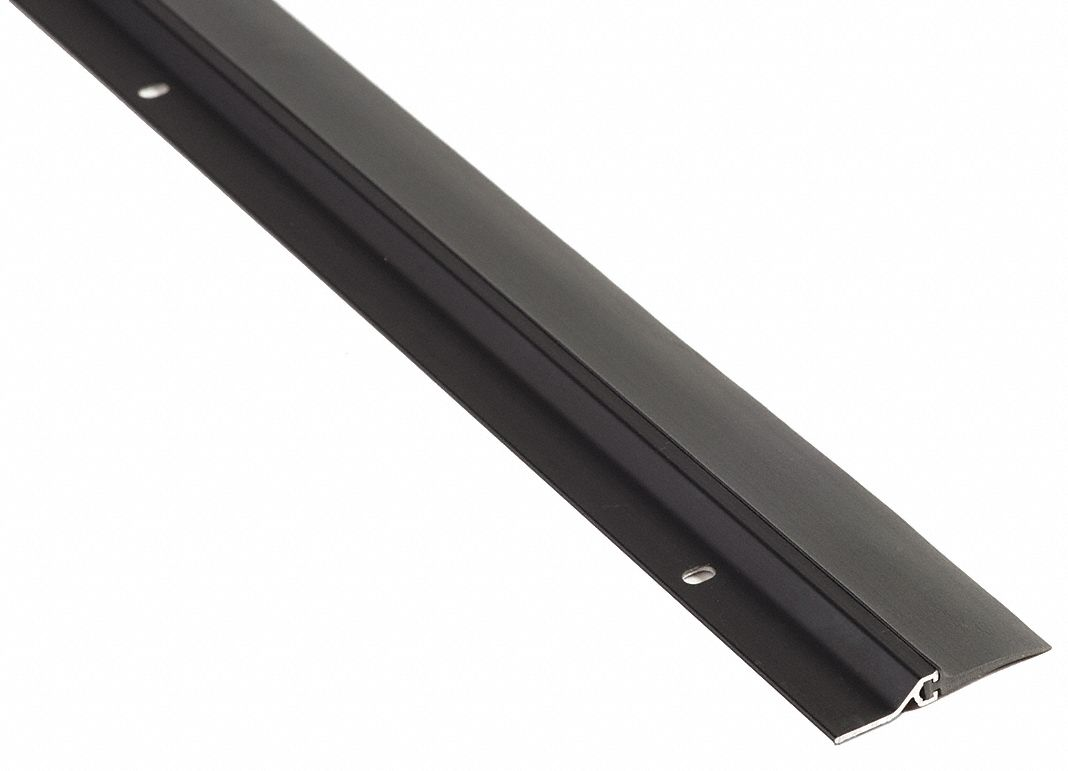 "Single Fin Door Sweep, Dark Bronze Aluminum, 3 ft. Length, 7/8"" Flange Height, 1"" Insert Size"
