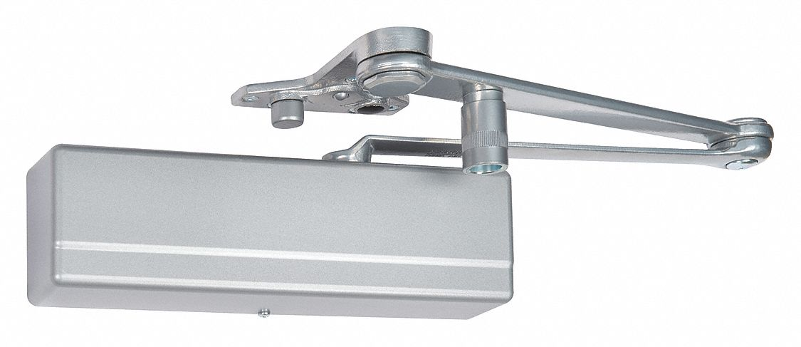 SARGENT 1431-PSH EN Manual Hydraulic Sargent 1431-Series Door Closer, Heavy Duty Interior and Exterior, Silver
