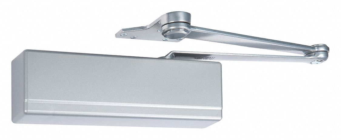 SARGENT 1431-P10-EN Manual Hydraulic Sargent 1431-Series Door Closer, Heavy Duty Interior and Exterior, Silver