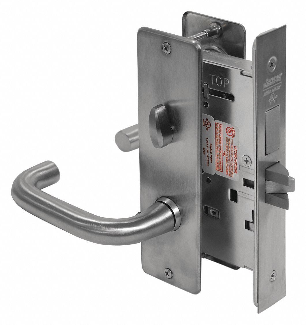 CORBIN ML2030 LWA 626 Mortise Lockset,  Mechanical,  Satin Chrome,  2 3/4 in Backset,  Mortise