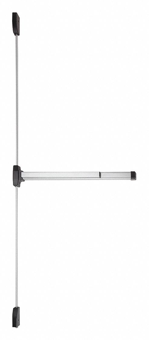 FALCON EXITS F19-V-EO SP28 3FT LHR Surface Vertical Rod,  Exit Device,  Aluminum,  19,  36 in Door Width