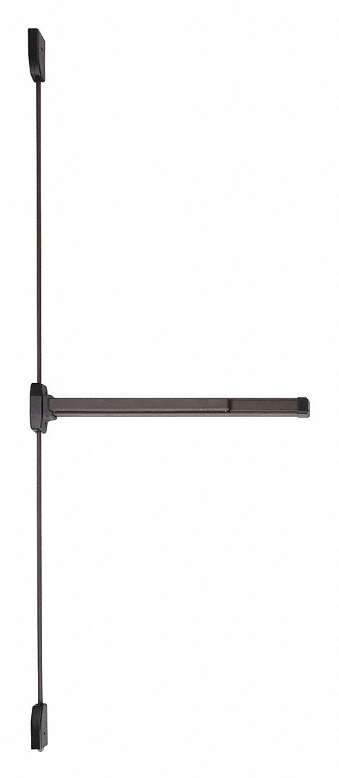 FALCON EXITS F19-V-EO SP313 3FT LHR Surface Vertical Rod,  Exit Device,  Dark Bronze,  19,  36 in Door Width
