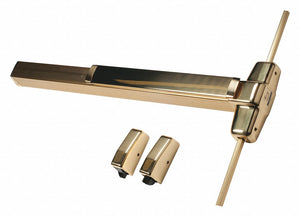 Exit Device, Series 99, Bright Brass, Surface Vertical Rod