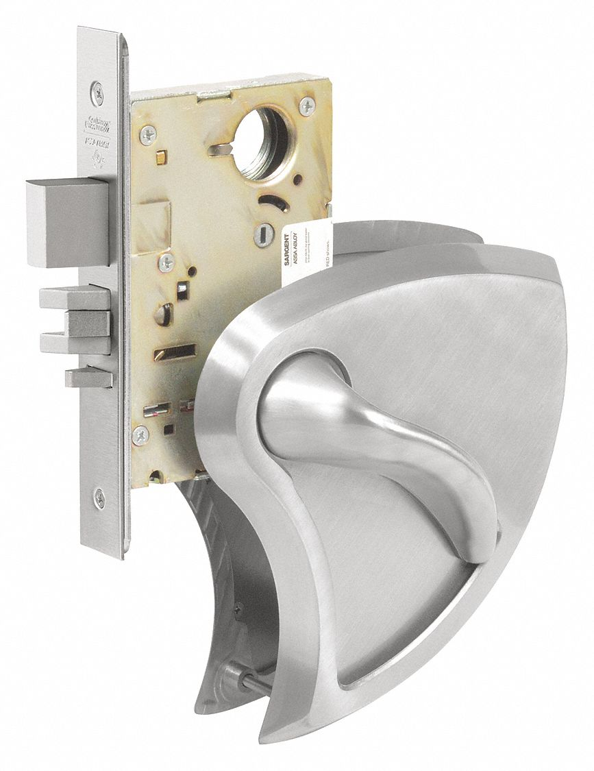 CORBIN ML2020 x BHSS x 630C RHR Mortise Lockset,  Mechanical,  Not Keyed,  Satin Stainless Steel,  2 3/4 in Backset,  Mortise