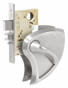 CORBIN ML2010 x BHSS x 630C RHR Mortise Lockset,  Mechanical,  Not Keyed,  Satin Stainless Steel,  2 3/4 in Backset,  Mortise