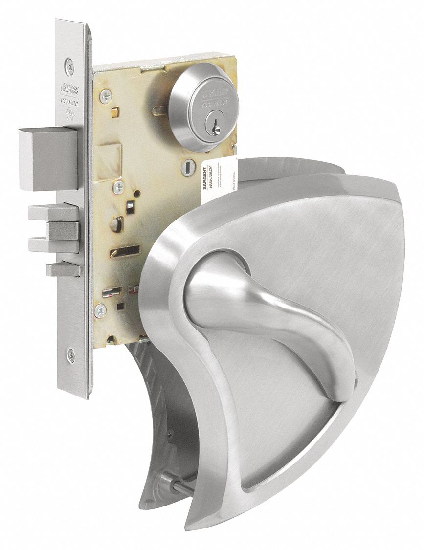 CORBIN ML2092 x BHSS x 630C RHR Mortise Lockset,  Mechanical,  Keyed Different,  Satin Stainless Steel,  2 3/4 in Backset,  Mortise