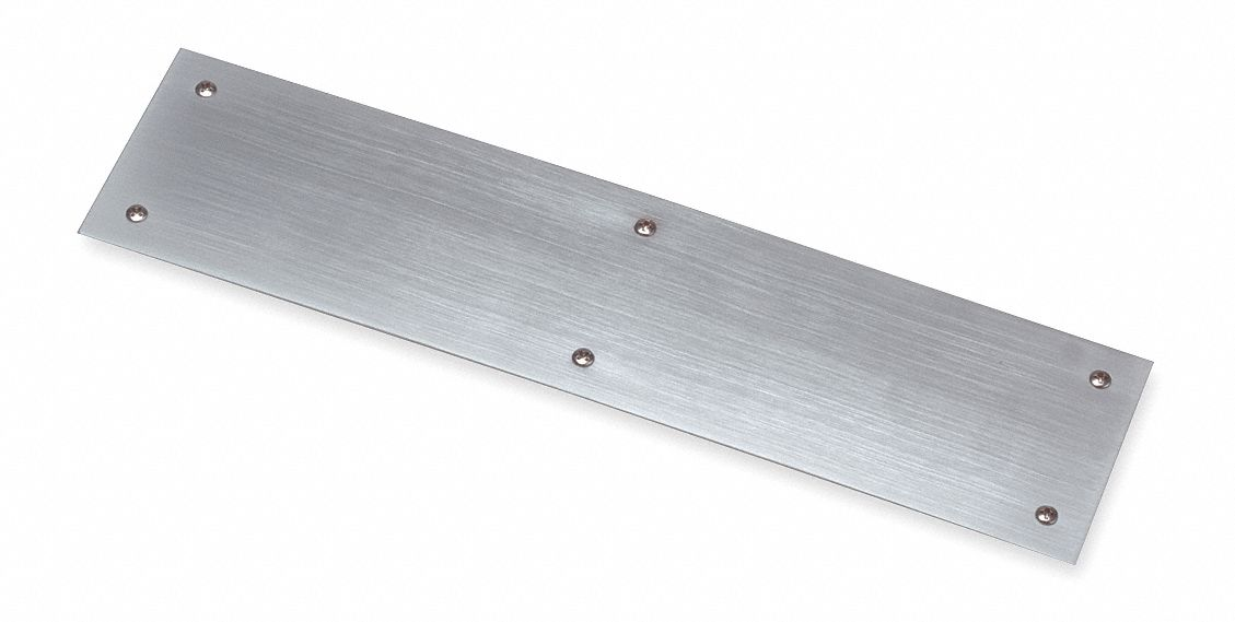 ROCKWOOD 73A.32D316 Door Push Plate,  Stainless Steel,  Surface Mount Screws