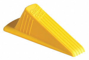 "Door Wedge XL, Thermo Plastic Elastomer Santoprene , Yellow, 6-3/4"" Length, 2"" Height, 3-1/2"" Width"