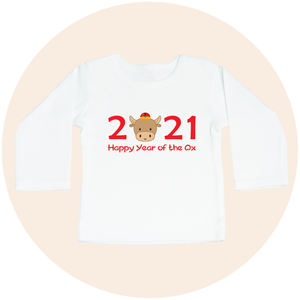 2021 Happy Year of the Ox - Long Sleeve Toddler Tee