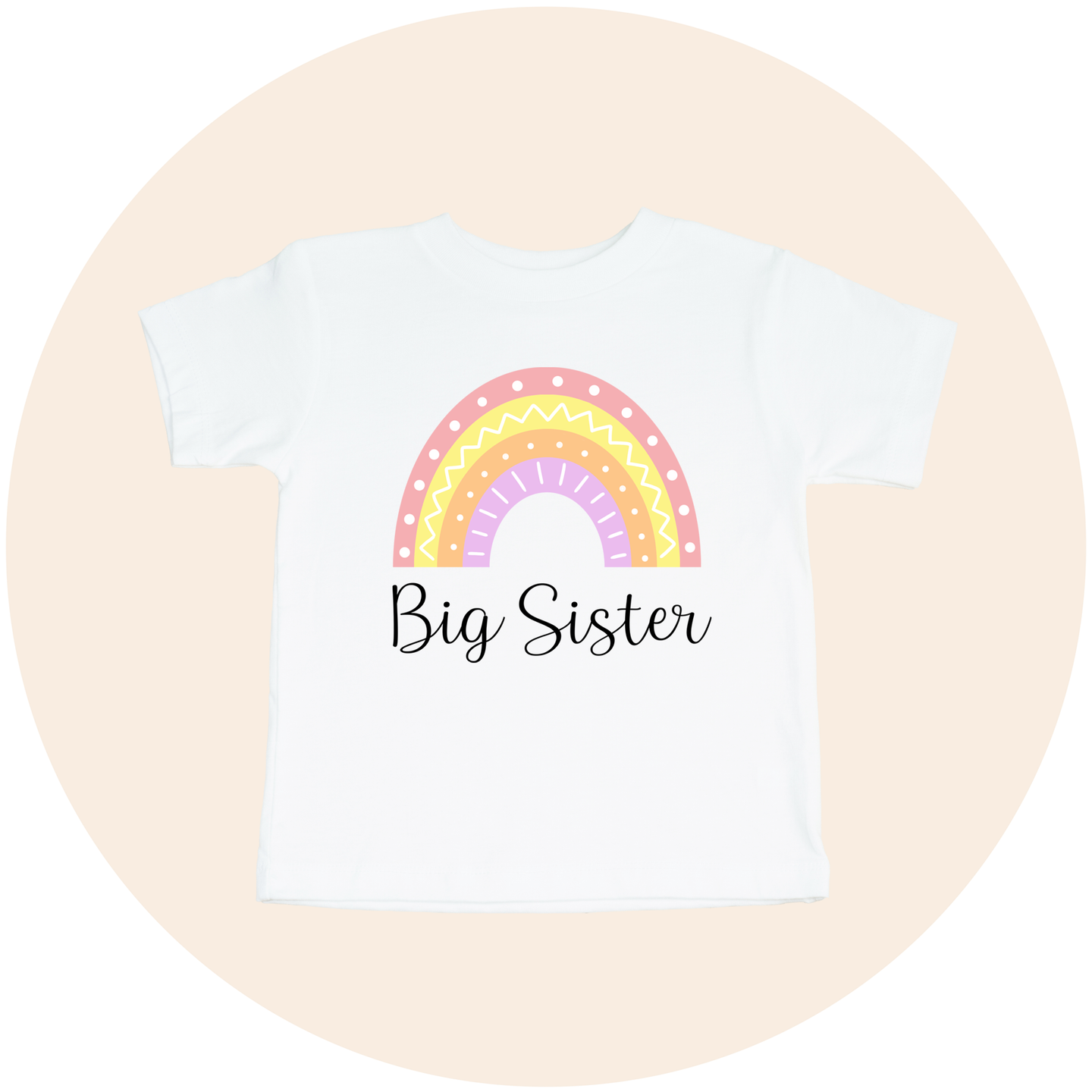 Big Sister Rainbow - Toddler Tee
