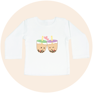 Boba Love - Long Sleeve Toddler Tee