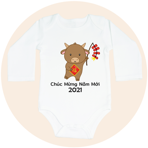 Chúc Mừng Năm Mới 2021 Year of the Ox - Long Sleeve
