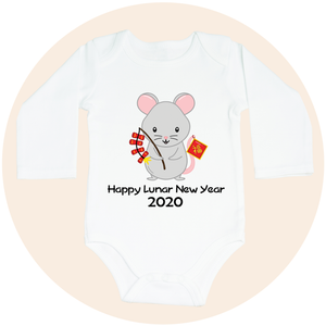 Happy Lunar New Year 2020 Year of the Rat - Long Sleeve