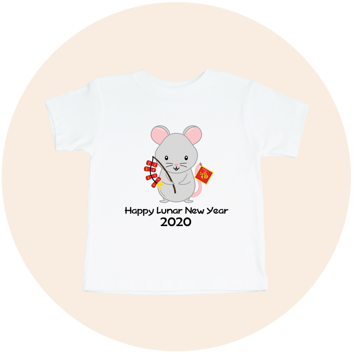 Happy Lunar New Year 2020 Year of the Rat - Toddler Tee