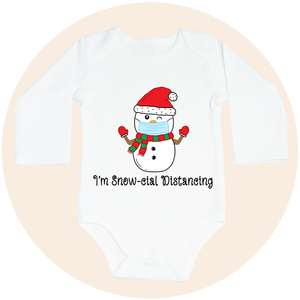 I'm Snow-cial Distancing - Long Sleeve